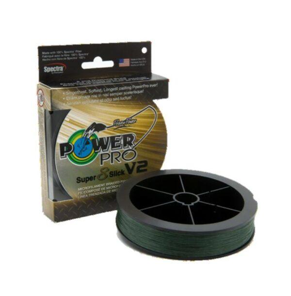 Tresse 8 Slick V2 275m 0.41mm 40kg Moss Green (Vert) Power Pro Shimano