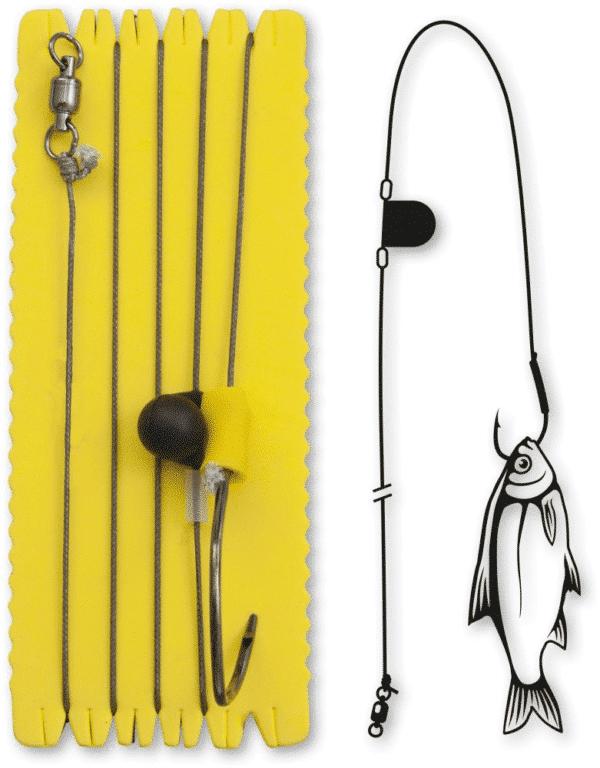 Bas De Ligne Hameçon Simple Et Rattle 8/0 Black Cat