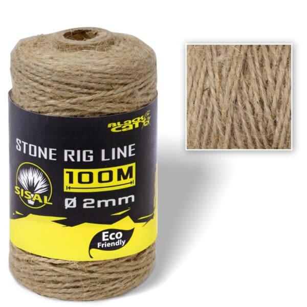 Ficelle Biodégradable Stone Rig Line 100m Black Cat
