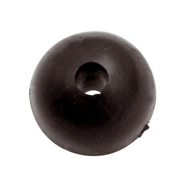 Perle caoutchouc Rubber shock bead 10pcs Black Cat