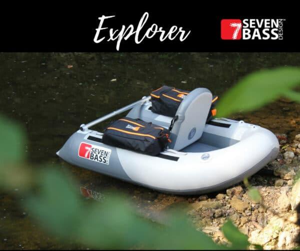 Float Tube Explorer 170 Seven Bass + 2 Sacoches Cargo XL Classic Offertes