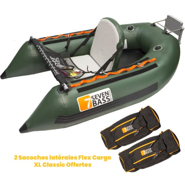 Float Tube USA Expedition 180 + 2 Sacoches Cargo XL Classic Offertes Seven Bass