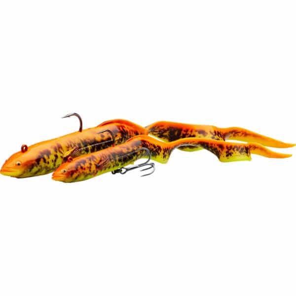 Leurre Souple Monté 4D Real Eel Sinking Savage Gear