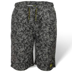 Short Beach Shorts Gris/Noir Black Cat