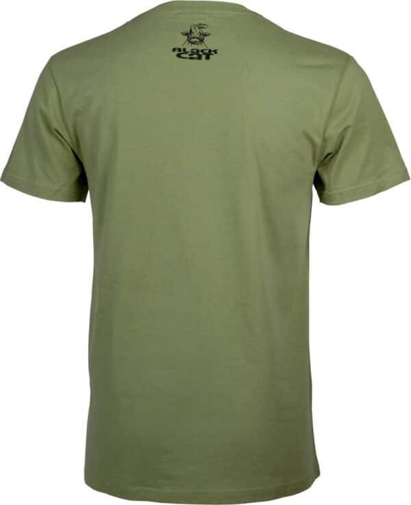T-Shirt Military Shirt Vert Black Cat