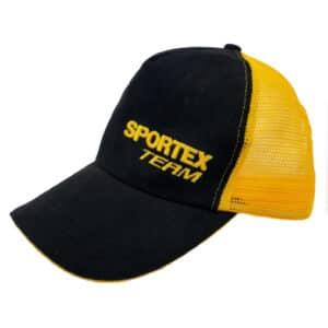 Casquette Base Cap Black/Yellow Team Sportex